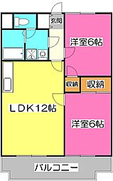 クレ−ル西所沢[1階]の間取り