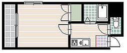 福岡県福岡市中央区鳥飼3丁目の賃貸マンションの間取り