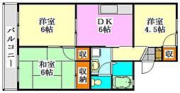 セジュール東船橋[203号室]の間取り