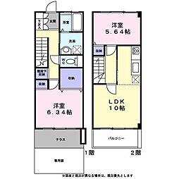 [テラスハウス] 東京都八王子市宇津木町 の賃貸【/】の間取り