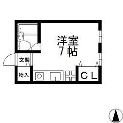 プロシード八戸ノ里[3階]の間取り