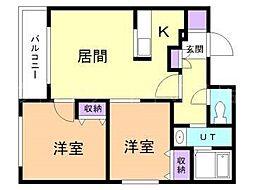 EsperanzaHIRAGISHI[2階]の間取り