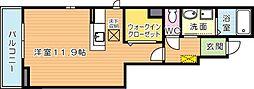 ランドコア田町II[1階]の間取り