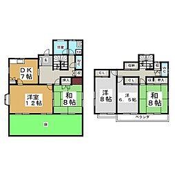 [一戸建] 宮城県仙台市泉区住吉台西4丁目 の賃貸【/】の間取り