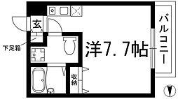 大阪府箕面市箕面4丁目の賃貸アパートの間取り