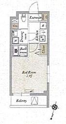 JR京浜東北・根岸線 王子駅 徒歩9分の賃貸マンション 3階1Kの間取り