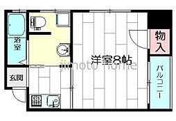 三功ビル[3階]の間取り