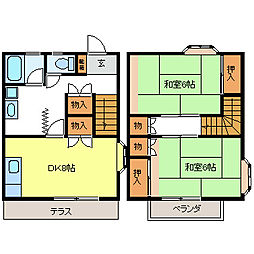 湯田コーポ[2階]の間取り