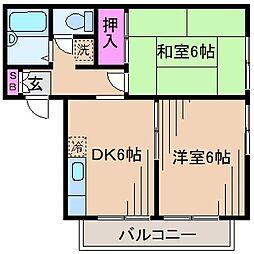神奈川県川崎市高津区久末の賃貸アパートの間取り