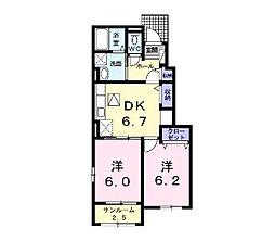 エテルノM・M 1[103号室]の間取り