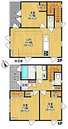 [テラスハウス] 神奈川県川崎市多摩区登戸 の賃貸【/】の間取り