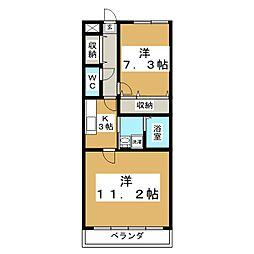 カメリア・ヒルズ中山台[5階]の間取り