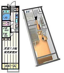東京都足立区東伊興1丁目の賃貸アパートの間取り