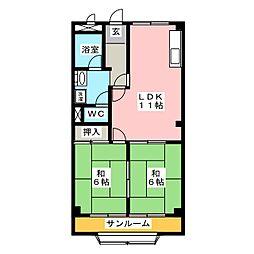 アネックスII[4階]の間取り