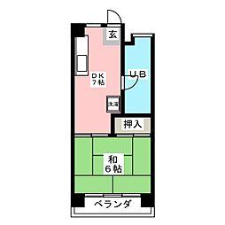 サンハイツ柏木[3階]の間取り