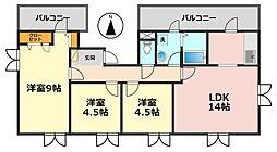 東京都葛飾区鎌倉2丁目の賃貸マンションの間取り