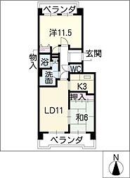 エスポア日進 603号室[6階]の間取り
