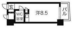 香川県高松市今新町の賃貸マンションの間取り