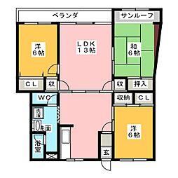 天白原住宅2号館[9階]の間取り