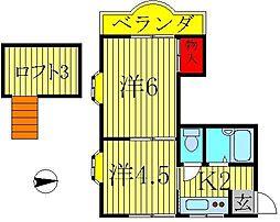 LEAFCOURT江戸川台A・B[2階]の間取り