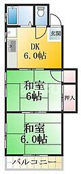 東京都江戸川区西一之江3丁目の賃貸マンションの間取り