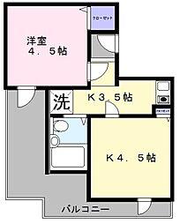 セントラル和泉 C棟[4階]の間取り
