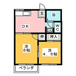 タウンハウス美里D[2階]の間取り