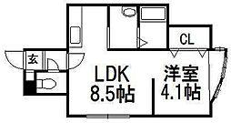 カーム澄川[2階]の間取り