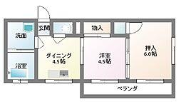 渡辺マンション[3階号室]の間取り