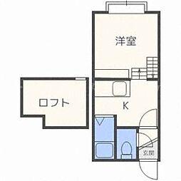 北海道札幌市東区北二十二条東10丁目の賃貸アパートの間取り