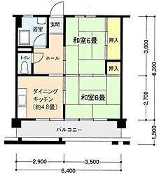 東逗子駅前共同ビル[6階]の間取り