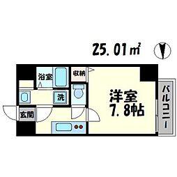 TOYOTOMI STAY PREMIUM 梅田III 7階1Kの間取り