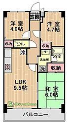 神奈川県相模原市緑区橋本7丁目の賃貸マンションの間取り