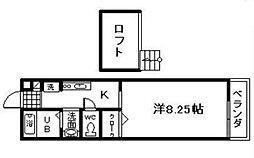 ベルリード岸和田[1階]の間取り
