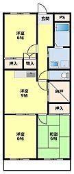 愛知県豊田市住吉町2丁目の賃貸マンションの間取り