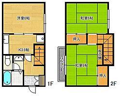 [テラスハウス] 千葉県船橋市藤原7丁目 の賃貸【/】の間取り