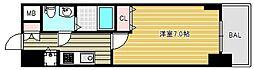 エスレジデンス難波ブリエ 8階1Kの間取り