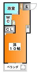 コラージュガーデン[203号室]の間取り