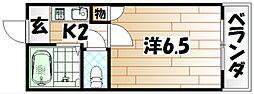 リバーサイド藤光[3階]の間取り