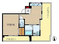東京都大田区下丸子24丁目の賃貸マンションの間取り