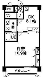 マンショングレイス[1階]の間取り