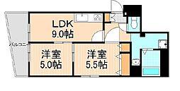 東京都台東区小島2丁目の賃貸マンションの間取り