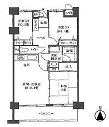 東京メトロ日比谷線 南千住駅 徒歩13分の賃貸マンション 8階3LDKの間取り