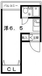 ノバ長居[8階]の間取り