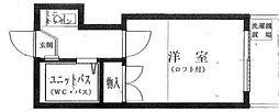 東京都目黒区中根1丁目の賃貸アパートの間取り