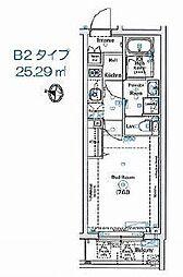 ANNEX椎名町 ~アネックスシイナマチ~ 2階1Kの間取り