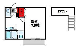ルート片峰I[2階]の間取り