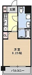 レジディア京都駅前[319号室号室]の間取り