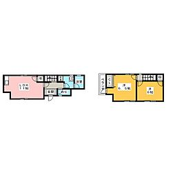 [一戸建] 岐阜県美濃加茂市清水町1丁目 の賃貸【/】の間取り