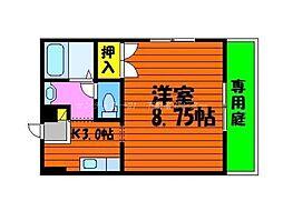岡山県岡山市北区西崎本町の賃貸アパートの間取り